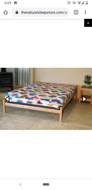 Avocado matress and solid wood bed frame for Sale in Seattle, WA