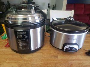 Emson smoker/indoor pressure smoker & crock pot for Sale in Fresno, CA