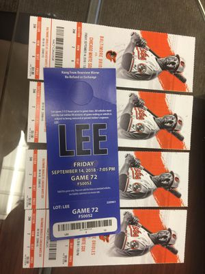 Orioles tickets to tonight's game for Sale in Baltimore, MD