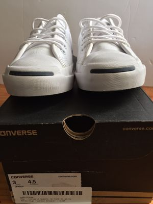 New Converse Unisex Jack Purcell White Casual Shoes Men's Size 3 Women's Size 4.5 for Sale in Schaumburg, IL