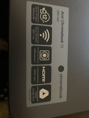 Acer chromebook 15 for Sale in Jacksonville, FL
