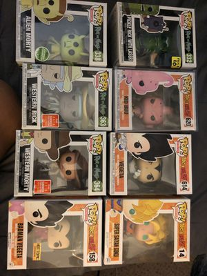 Dragonball Z , Rick and Morty funko POP for Sale in Austin, TX