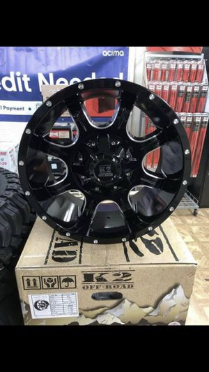PAYMENTS AVAILABLE! NEW SET OF (4) 17X9 K2 OFFROAD K01 EVEREST WHEELS FOR SALE FOR JEEP OR DODGE for Sale in San Bernardino, CA