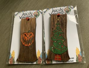 Two Nightmare before Christmas Real wood Ornaments for Sale in Moreno Valley, CA