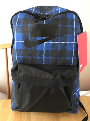 Brand new Nike checkerboard blue backpack gym bag book school for Sale in El Cajon, CA