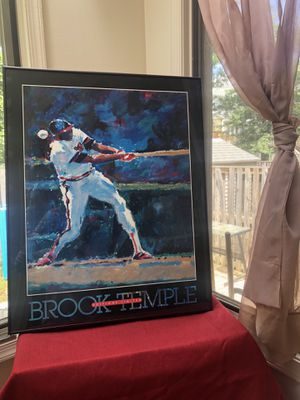 Brook Temple Baseball Poster Print Editions Limited, Susanna Anderson-Carey for Sale in Germantown, MD