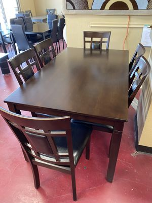 Furniture living dining table 6 chairs finance available for Sale in Garland, TX