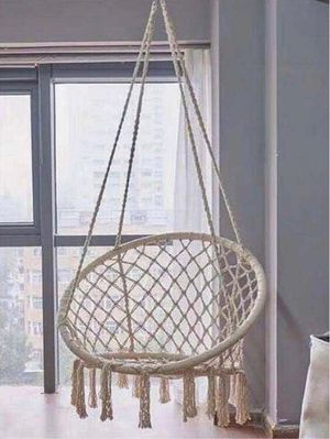 """New in box 32"""" wide x 47"""" inches tall Hammock Chair Macrame Swing Boho Style Cotton Rope Chair Indoor Outdoor 260 lbs Capacity Without Pillow for Sale in Whittier, CA"""