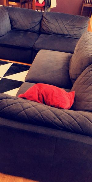 Black 4 piece Sectional couch, bought from Value city furniture. for Sale in Atlanta, GA