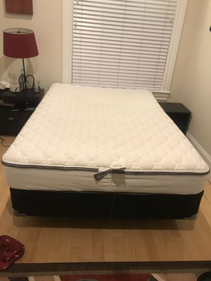 Full sized Mattress, Box Spring and Bed Frame for Sale in Washington, DC