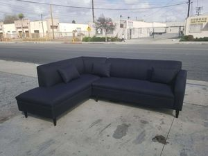 NEW 7X9FT DOMINO BLACK FABRIC SECTIONAL CHAISE for Sale in Imperial Beach, CA