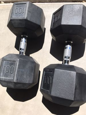 Rubber hex Dumbbell set 100lb for Sale in Scottsdale, AZ