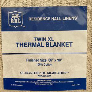 Twin XL Thermal Blanket Dorm College 66x90 Cotton Beige for Sale in Nokesville, VA