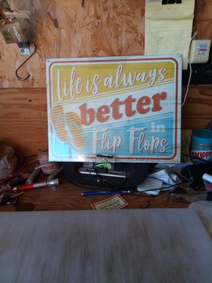Life is better in Flip Flops metal sign 12 x 15 inches for Sale in San Diego, CA