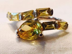 Citrine and sterling silver ring, size 9 for Sale in Hampden, ME