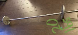 "20"" lbs weights barbell for Sale in Rancho Palos Verdes, CA"
