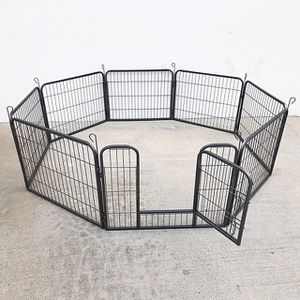 "(NEW) $70 Heavy Duty 24"" Tall x 32"" Wide x 8-Panel Pet Playpen Dog Crate Kennel Exercise Cage Fence Play Pen for Sale in Whittier, CA"