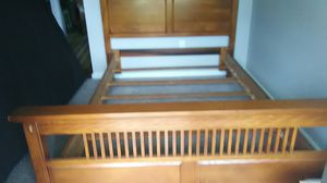 Bed room set converts to a queen size or full size no box springs or mattress for Sale in Charlotte, NC
