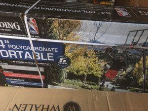 Portable BASKETBALL HOOP Polycarbonate Backboard Breakaway Rim Adjusts 7.5-10 ft for Sale in Hampton, VA