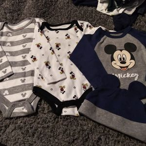 6-9mos Mickey Mouse Long Sleeve Onesies for Sale in Aurora, CO