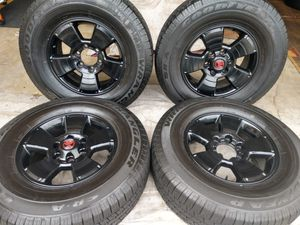 """17"""" Toyota Tacoma tundra t-100 4runner wheels.... Goodyear tires 265/70/17 GOOD LIFE ON TIRES........ for Sale in Gardena, CA"""