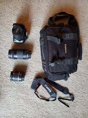 Canon rebel t3 with lenses and case for Sale in Buffalo, NY