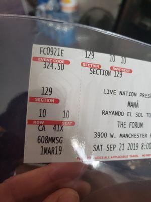 Mana's concert tickets for Sale in Hazard, CA