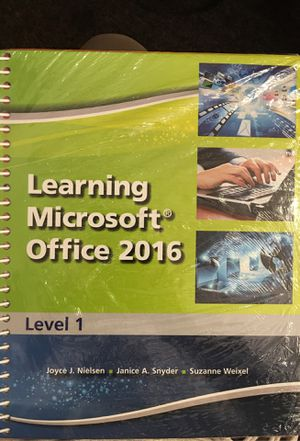 Learning Microsoft Office 2016 new for Sale in Ontario, CA