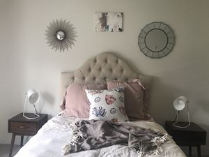 Linen Upholstered Headboard for Sale in Mont Clare, PA