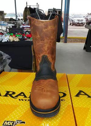 Work boots not steel toe and steel toe/ sin casco y con casco for Sale in Garland, TX