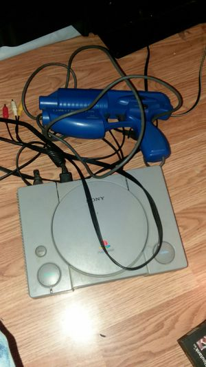 Original PlayStation with light blaster gun for Sale in Kingsport, TN