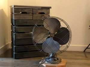 Crate shelf with antique decorative fan for Sale in Woodland Hills, CA