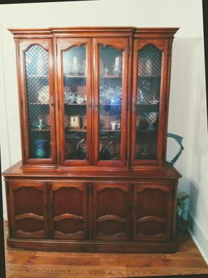 Solid wood china cabinet for Sale in Charleston, SC
