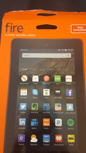 """Amazon Fire Tablet 7"""" 5th generation 8GB Orange for Sale in Plano, TX"""