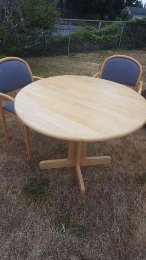 Oak kitchen table & 2 chairs for Sale in Puyallup, WA