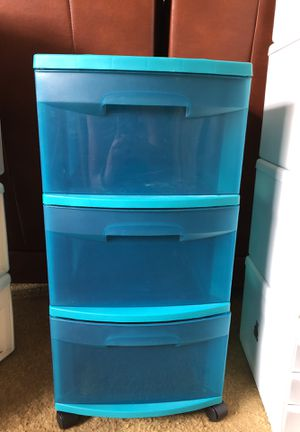 Teal/ aqua/ blue/ green plastic drawers, Room Essetials for Sale in San Jose, CA
