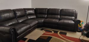 Well taken care of leather sectional couch for Sale in Fresno, CA