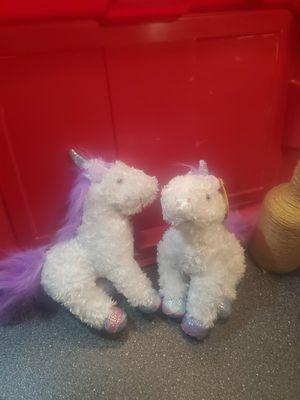 Stuffed Animal Unicorns ($10 for both) for Sale in Rockmart, GA
