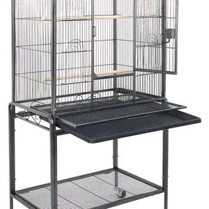 Bird Cage with Stand Wrought Iron Construction 53-Inch Pet Bird Cage Play Top Parrot Cockatiel Cockatoo Parakeet Finches Birdcage for Sale in East Los Angeles, CA