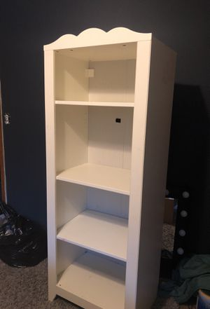 White open 4-shelf bookcase/storage for Sale in Seattle, WA