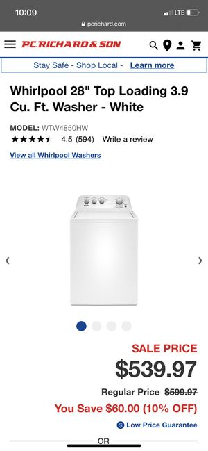 Washer for Sale in Hartford, CT
