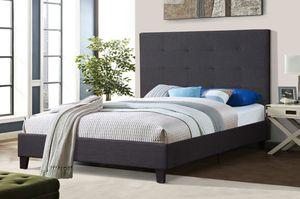 Linen Fabric Full Platform Bed Frame, 7566 for Sale in Norwalk, CA