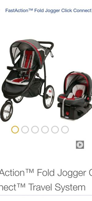Graco Jogger Stroller with Car seat - Gray and Red for Sale in Riverview, FL