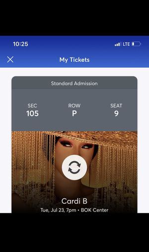 Cardi B Ticket for Sale in Jenks, OK