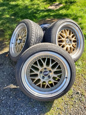 Esr wheels with Bridgestone tires for Sale in Scappoose, OR