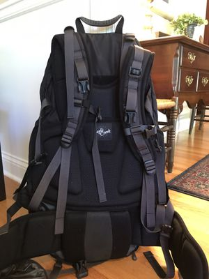 Large Backpack Hiking/Travel, Black, Used Only Once, Great Condition! for Sale in Wilmette, IL