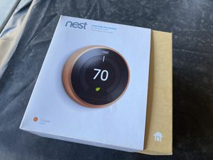 Nest thermostat 3rd generation Like New Copper for Sale in Orange, CA