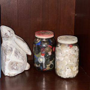 Antique Vintage Glass Jars Of Buttons for Sale in Haughton, LA