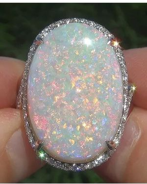 Size 9 sterling silver ring with opal stone for Sale in Sarasota, FL