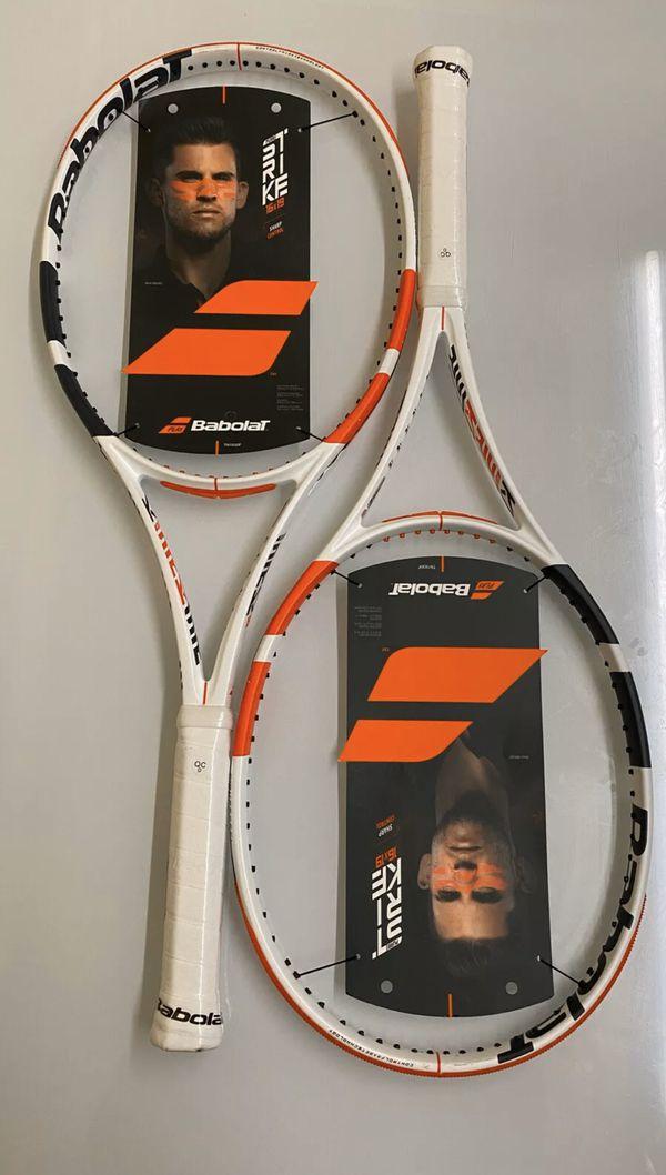 Two Babolat 3rd Gen Pure Strike 98sq 16x19 - Grip 4 1/4 - Tennis Racquet